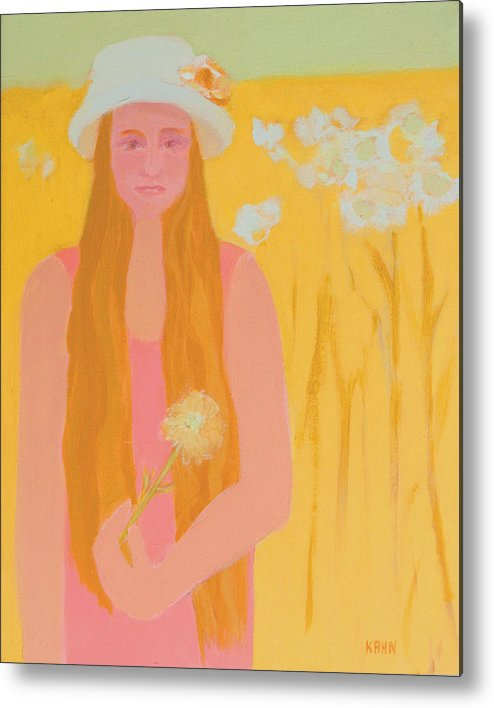 Flower Metal Print featuring the painting Flower Child by Renee Kahn