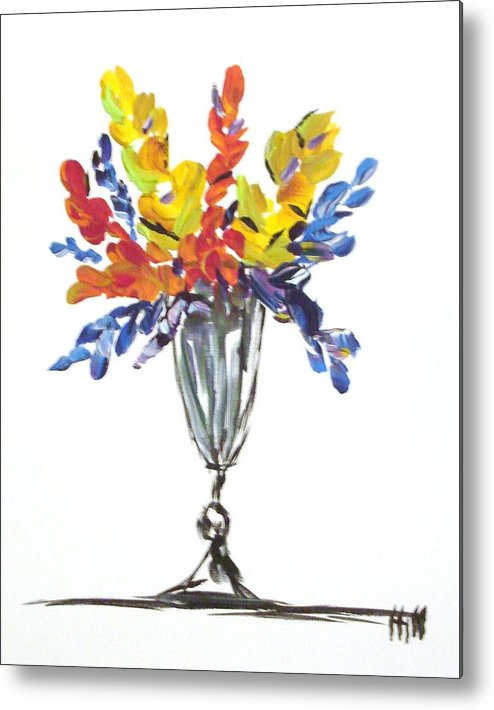 Flowers Metal Print featuring the painting Flowers Clear by Kimberly Hill