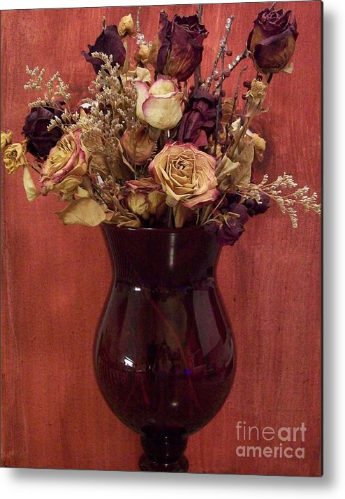 Dried Flowers Metal Print featuring the photograph Flowers Of Love by Marsha Heiken