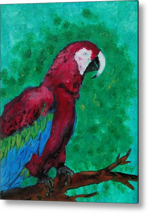 Parrot Metal Print featuring the painting Flying Colors by Cori Solomon