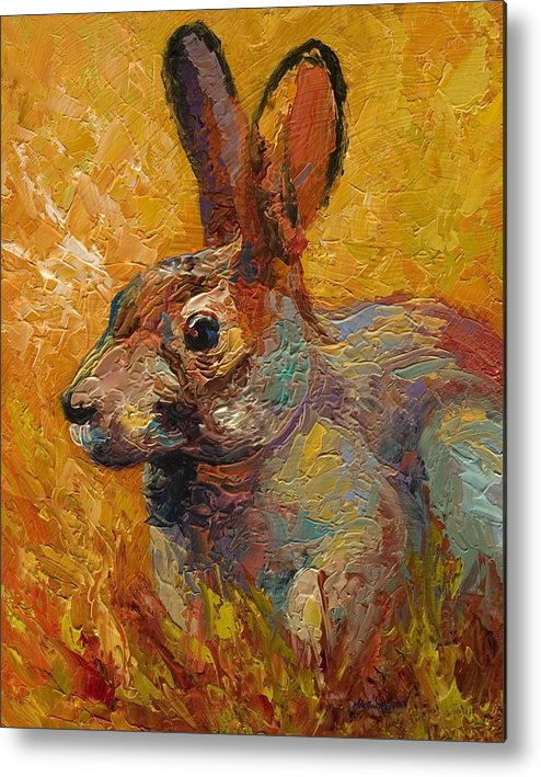 Rabbit Metal Print featuring the painting Forest Rabbit IIi by Marion Rose