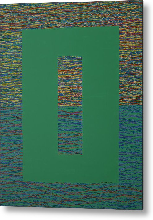 Green Metal Print featuring the painting Gates Of Nature 6 by Kyung Hee Hogg
