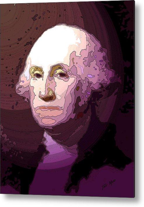 Washington Metal Print featuring the drawing George Washington by Tray Mead