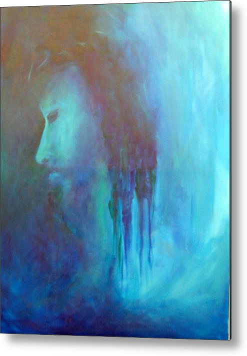 Abstract Metal Print featuring the painting Gethsemane by DeLa Hayes Coward