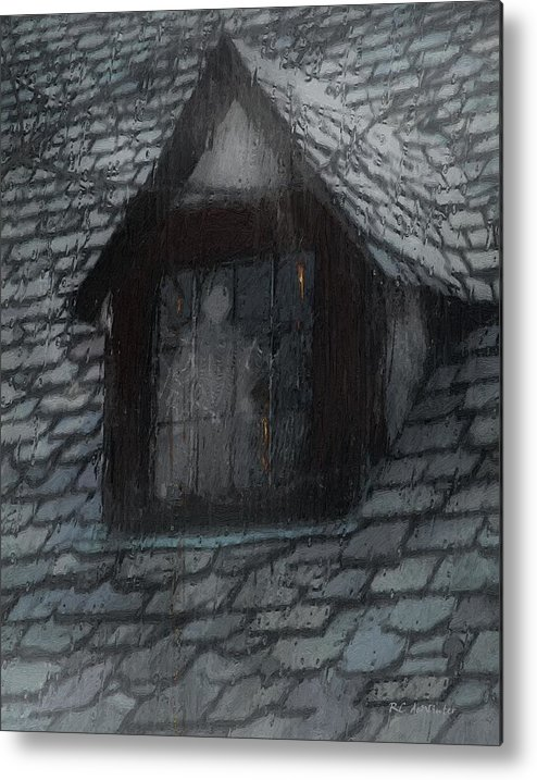 Ghost Metal Print featuring the painting Ghost Rain by RC deWinter