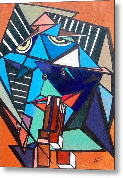 Abstract Metal Print featuring the painting Give Us This Day by Valerie Wolf