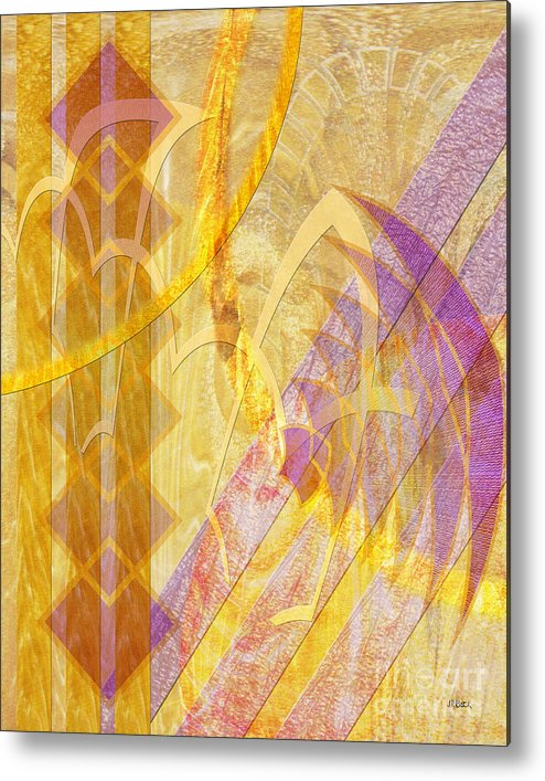 Gold Fusion Metal Print featuring the digital art Gold Fusion by John Beck