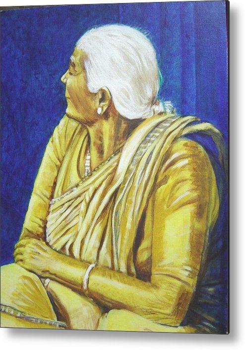 Usha Metal Print featuring the painting Golden Age 1 by Usha Shantharam