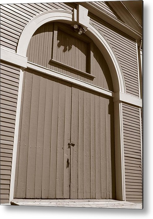 Waltham Metal Print featuring the photograph Gore Barn Door by Heather Weikel