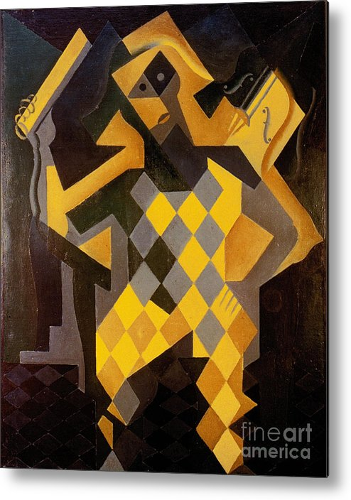 1919 Metal Print featuring the photograph Gris: Harlequin by Granger
