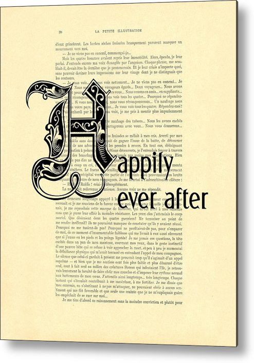 Happily Ever After Metal Print featuring the digital art Happily Ever After by Madame Memento