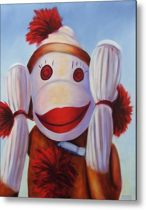 Children Metal Print featuring the painting Hear No Bad Stuff by Shannon Grissom