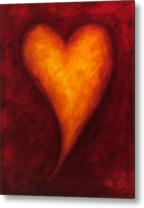Heart Metal Print featuring the painting Heart Of Gold 2 by Shannon Grissom