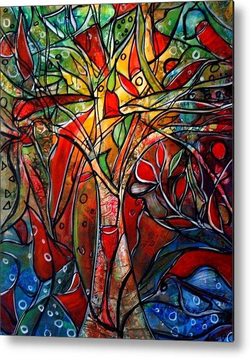 Landscape Metal Print featuring the painting Hidden Treasure by Luiza Vizoli