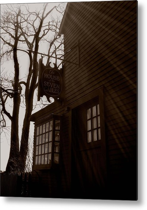 Salem Metal Print featuring the photograph House Of Seven Gables by Heather Weikel