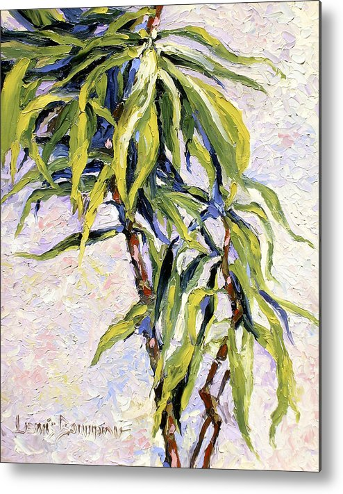 Yucca Metal Print featuring the painting House Plant by Lewis Bowman