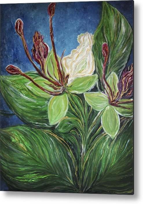 Ifit Metal Print featuring the painting Ifit Flower Guam by Michelle Pier
