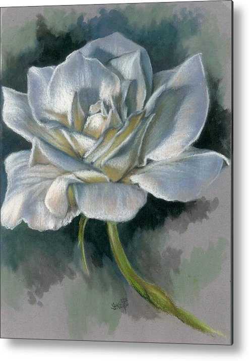 Rose Metal Print featuring the mixed media Innocence by Barbara Keith