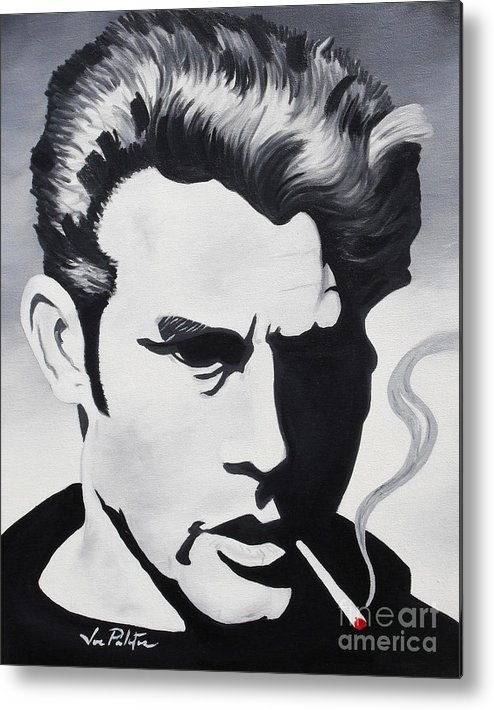James Dean Metal Print featuring the painting James Dean by Joseph Palotas