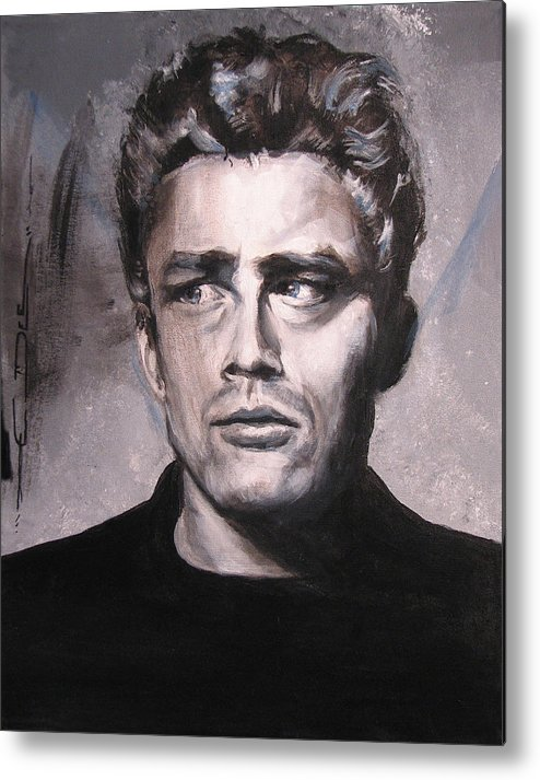 James Dean Metal Print featuring the painting James Dean Two by Eric Dee