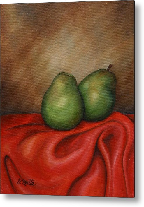 Still Life Metal Print featuring the painting Just A Pair by Gretchen Matta