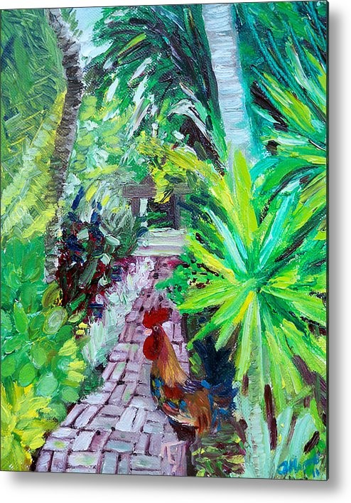 Key West Metal Print featuring the painting Key West Rooster by Ann Marie Napoli