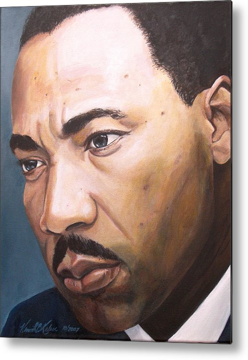 Portrait Metal Print featuring the painting King by Kenneth Kelsoe