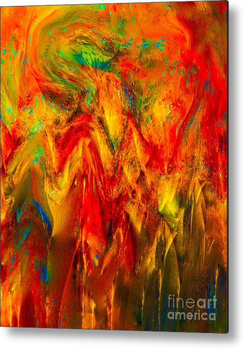 Painting-abstract Acrylic Metal Print featuring the mixed media King Solomon's Crown Of Wisdom by Catalina Walker