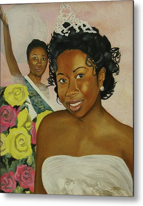African American Queen Metal Print featuring the painting Kirsten by Angelo Thomas