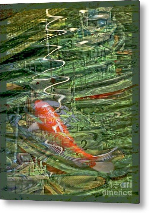 Koi Metal Print featuring the digital art Koi Boats by Chuck Brittenham