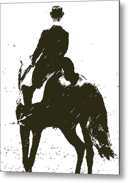 Horse Metal Print featuring the digital art Lets Dance by Donna Thomas