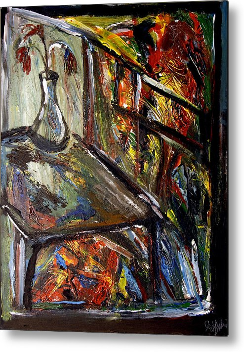 Expressionism Metal Print featuring the painting Lithium Number One by Jon Baldwin Art