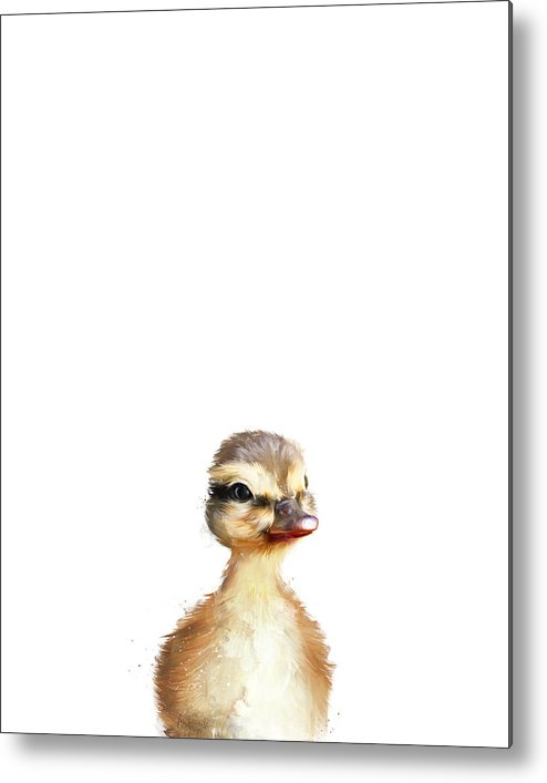 Duck Metal Print featuring the painting Little Duck by Amy Hamilton