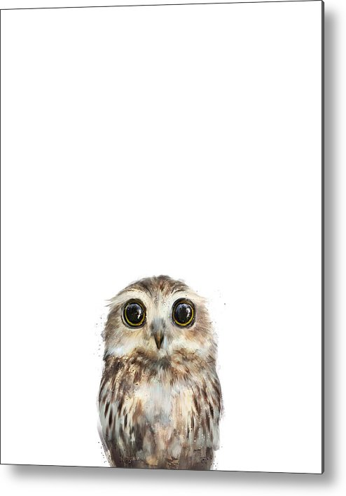 Owl Metal Print featuring the painting Little Owl by Amy Hamilton
