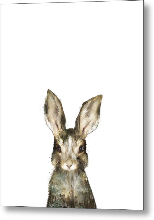 Rabbit Metal Print featuring the painting Little Rabbit by Amy Hamilton