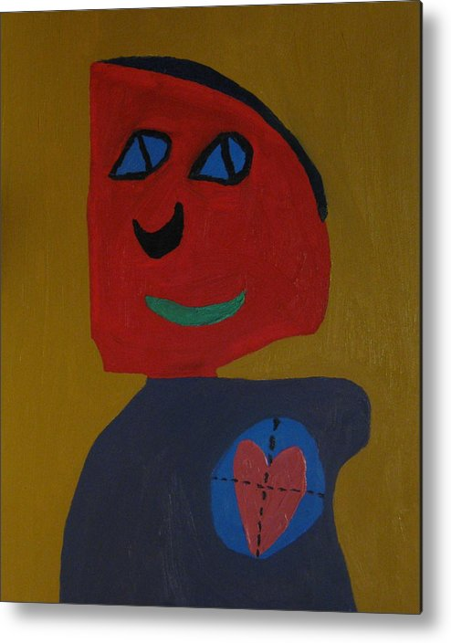 Heart Metal Print featuring the painting Love Shot by Frankie Graham