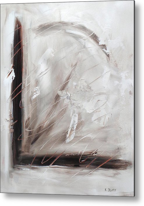 Abstract Metal Print featuring the painting Low Cool Abstract Painting by Karla Beatty