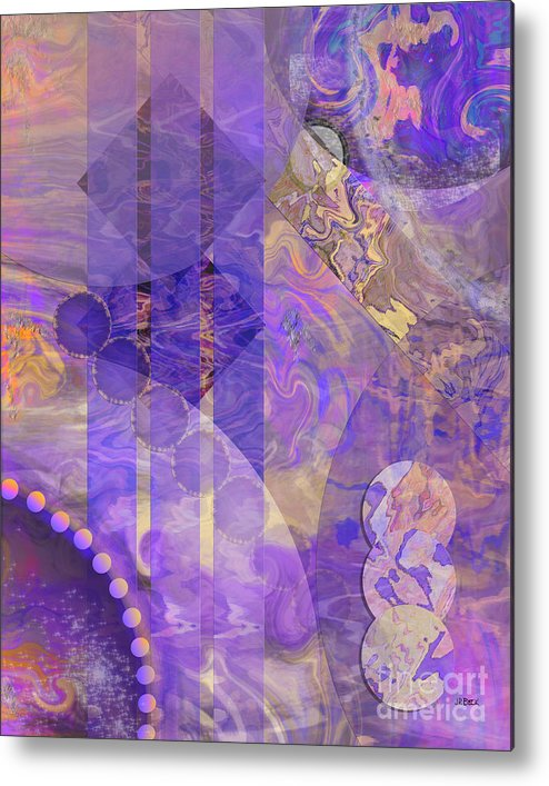 Lunar Impressions 2 Metal Print featuring the digital art Lunar Impressions 2 by John Beck