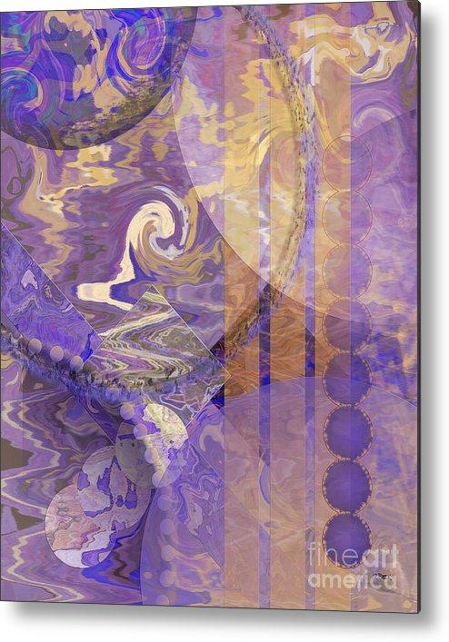Lunar Impressions Metal Print featuring the digital art Lunar Impressions by John Beck