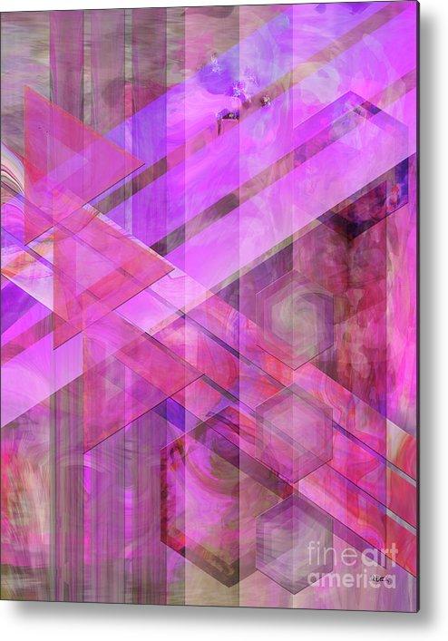 Magenta Haze Metal Print featuring the digital art Magenta Haze by John Beck