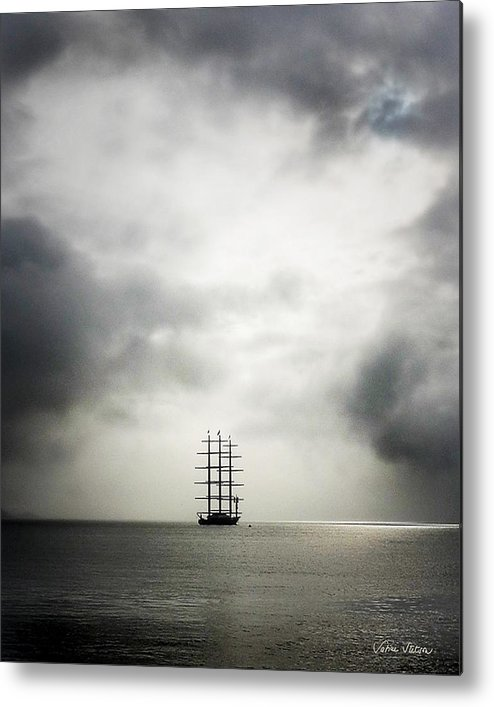 Yacht Metal Print featuring the photograph Maltese Falcon by Sabine Stetson