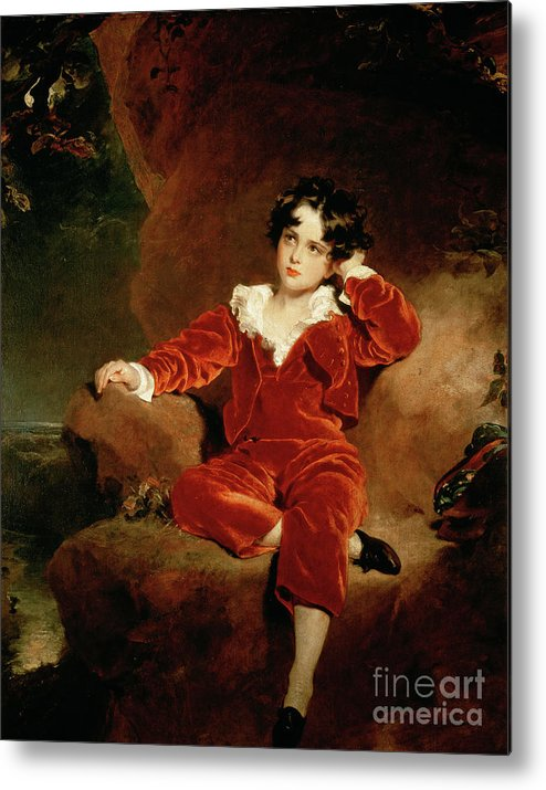 Sir Thomas Lawrence Metal Print featuring the painting Master Charles William Lambton by Sir Thomas Lawrence