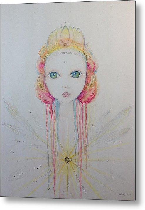 Fairy Metal Print featuring the mixed media Meditation by Nino Gabashvili