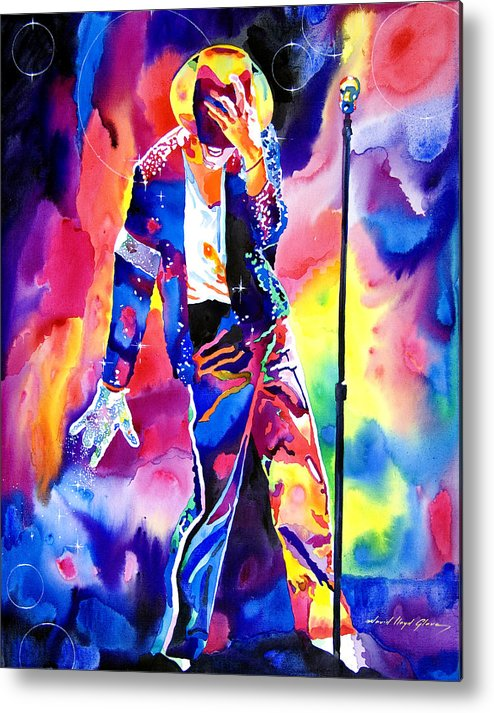 Michael Jackson Metal Print featuring the painting Michael Jackson Sparkle by David Lloyd Glover
