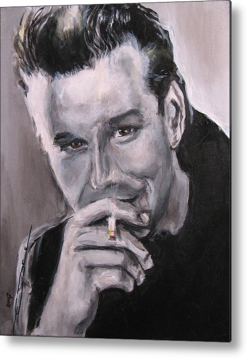 Mickey Rourke Metal Print featuring the painting Mickey Rourke by Eric Dee
