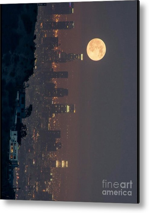 Metal Print featuring the photograph Midnight City by Jay Hunt