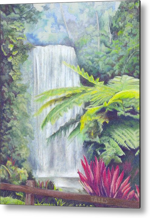 Australia Metal Print featuring the painting Milla Milla Falls by Robynne Hardison