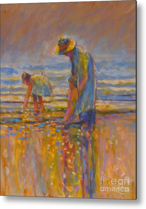 Children Metal Print featuring the painting Mom by Kip Decker
