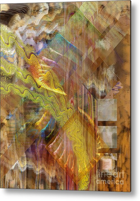 Morning Dance Metal Print featuring the digital art Morning Dance by John Beck
