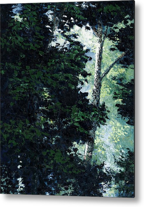 Trees Metal Print featuring the painting Morning Trees by Paul Illian